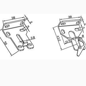 Wandhalterung für Gleichstrommotoren für Verdunklungsrollos